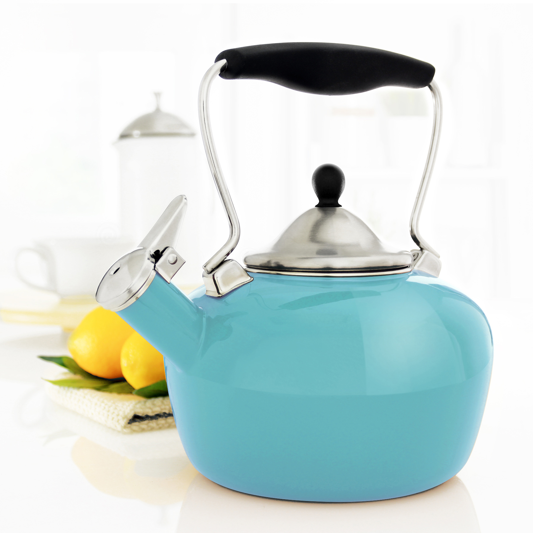 Chantal 1.8-qt Enamel-on-Steel Catherine Teakettle
