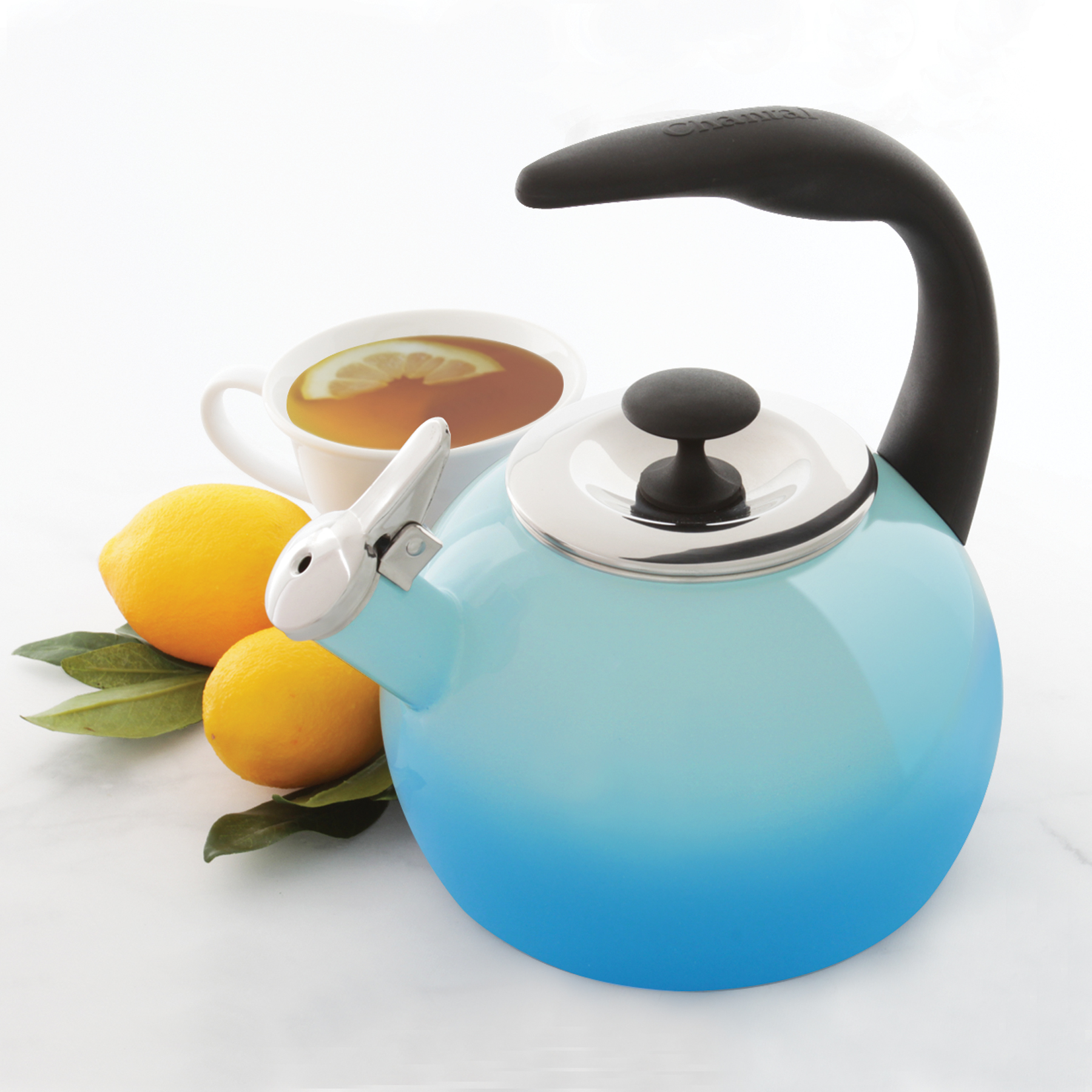 Chantal 2-Qt Heath Enamel-on-Steel Whistling Teakettle