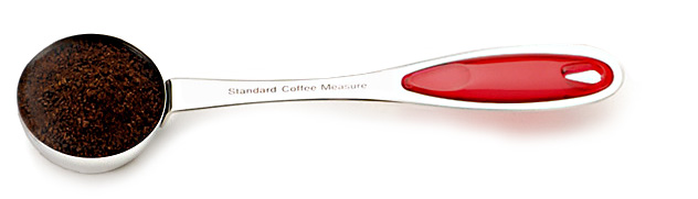 RSVP Endurance Splash! Coffee Scoop, Red