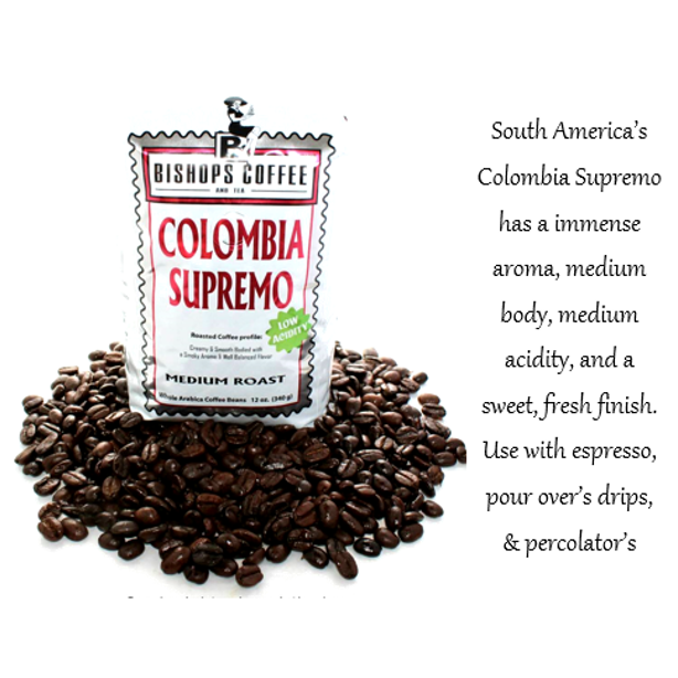 Colombia Supremo Medium Roast Single Origin 12 oz.