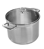 Chantal 8-Qt. Induction 21 Stockpot with Glass Lid