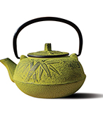 "20 oz. Moss Green Cast Iron ""Osaka"" Teapot"